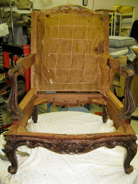 Antique Chair Restoration in progress - Antique Chair Restoration Foamland And Ted's Furniture Restoration