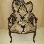 chairs reupholstered with beautiful tapestry fabric