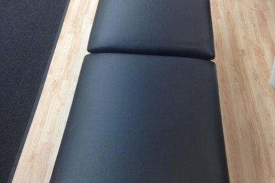 massage table re-upholstered