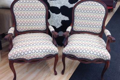 reupholsterd armchairs
