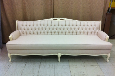Sofa Tufted and re-upholstered