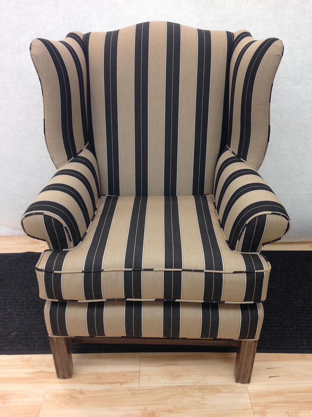 Newly Upholstered Wing Chair Foamland And Ted S