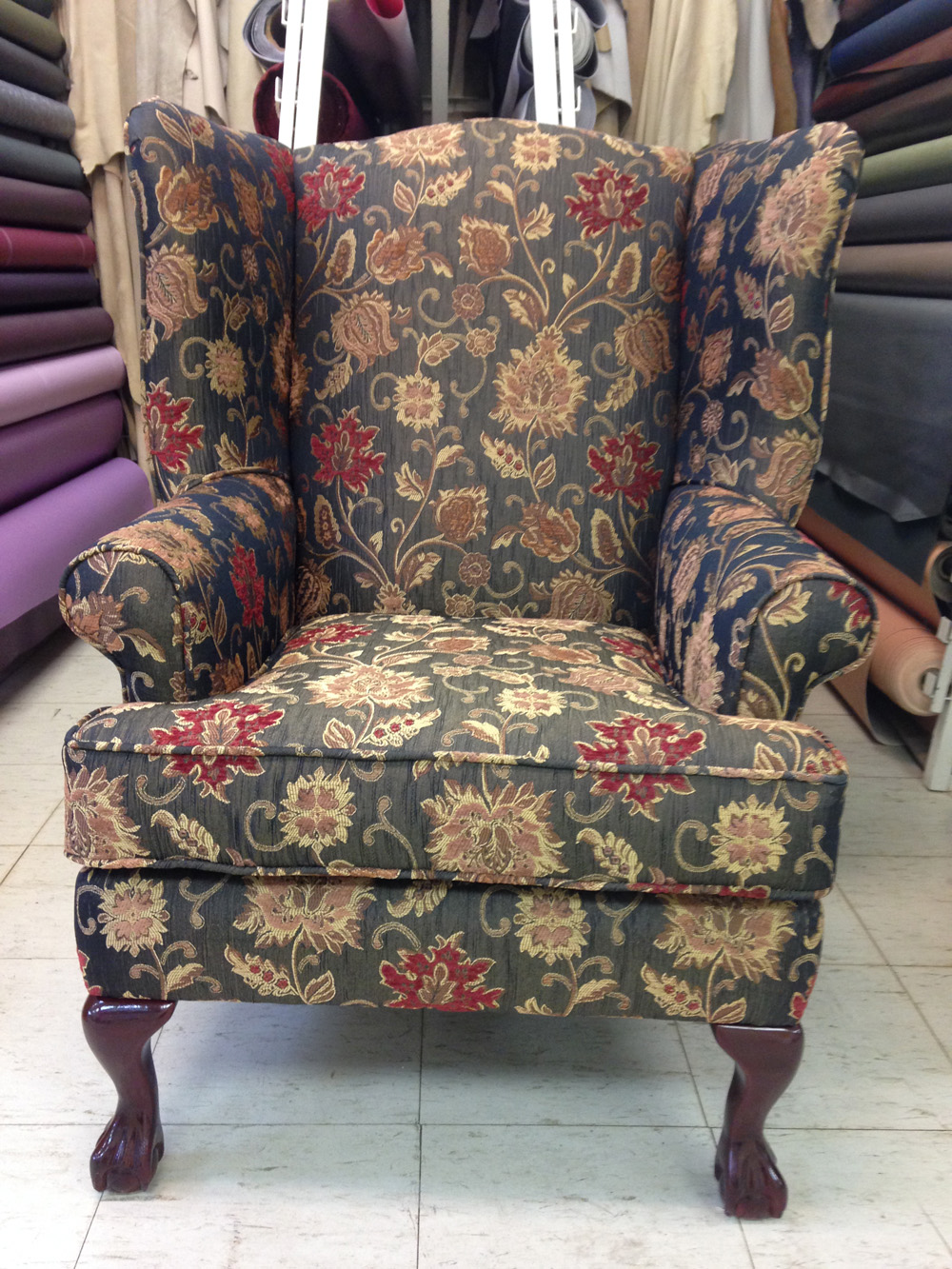 Reupholstered Wing Chairs Foamland And Ted S Furniture